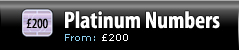 Platinum Numbers - Pricing from £200