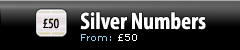 Silver Numbers - Pricing from £50