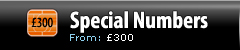 Special Numbers - Pricing from £300
